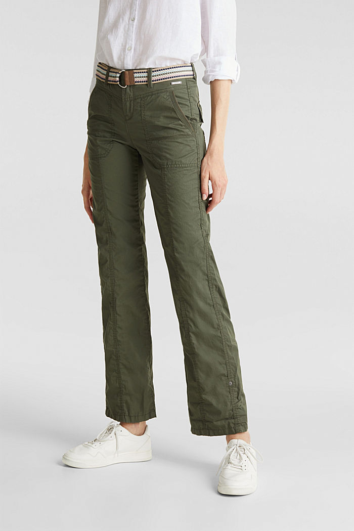 PLAY trousers with a belt, KHAKI GREEN, detail image number 6