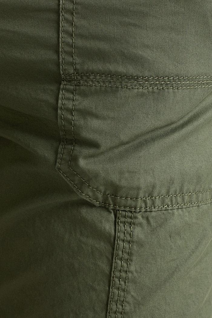 PLAY broek met riem, KHAKI GREEN, detail image number 4
