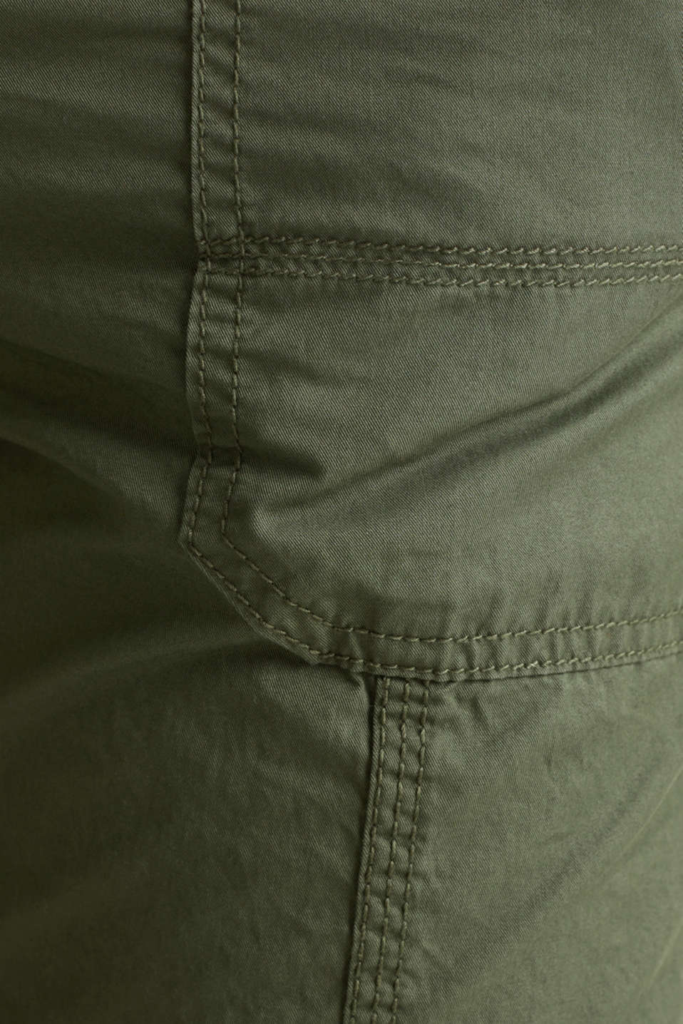 PLAY trousers with belt, 100% organic cotton, KHAKI GREEN, detail image number 4
