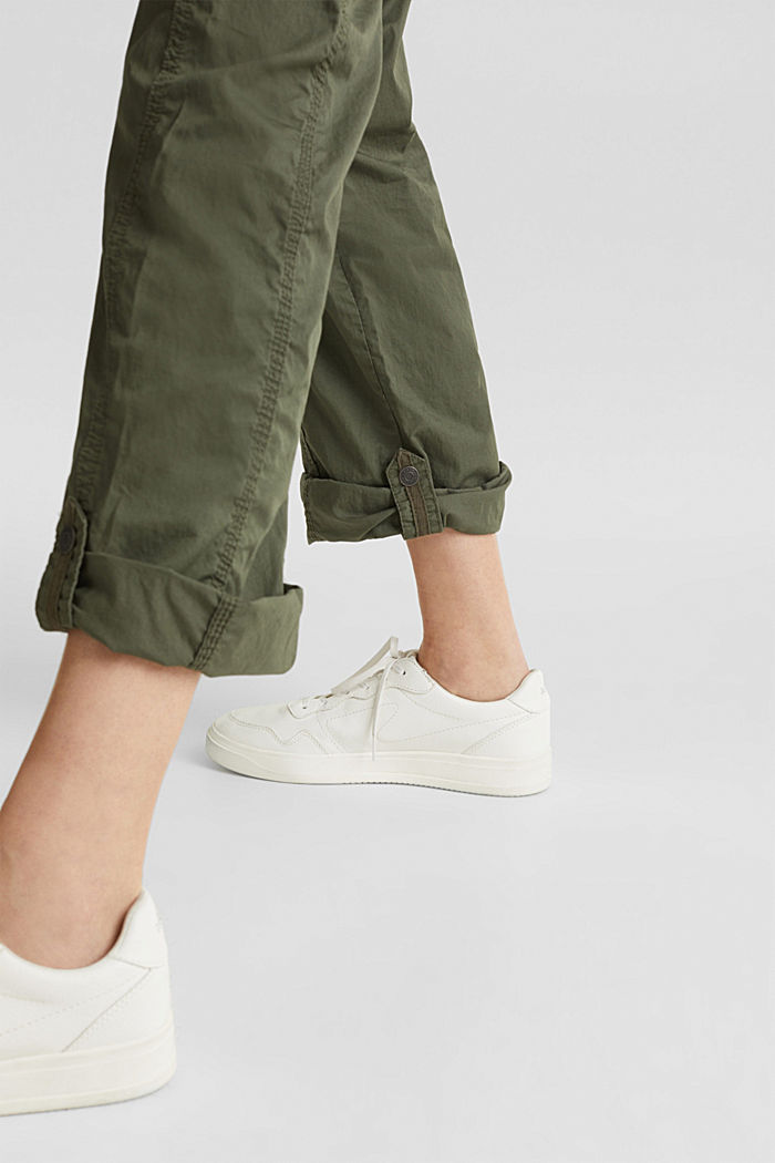 PLAY trousers with a belt, KHAKI GREEN, detail image number 5