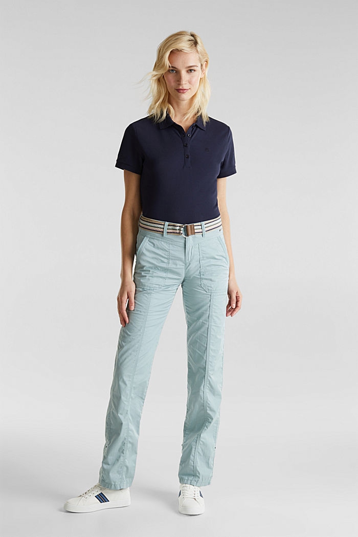 PLAY trousers with a belt, LIGHT AQUA GREEN, detail image number 0