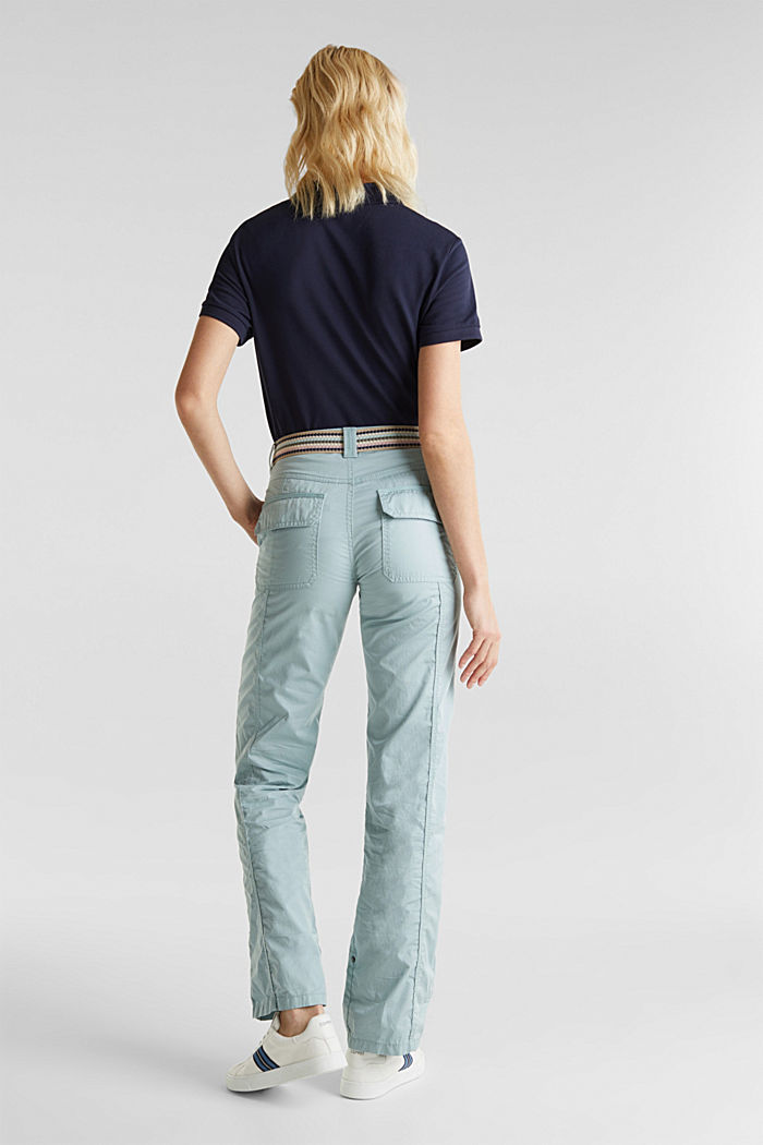 PLAY trousers with a belt, LIGHT AQUA GREEN, detail image number 3