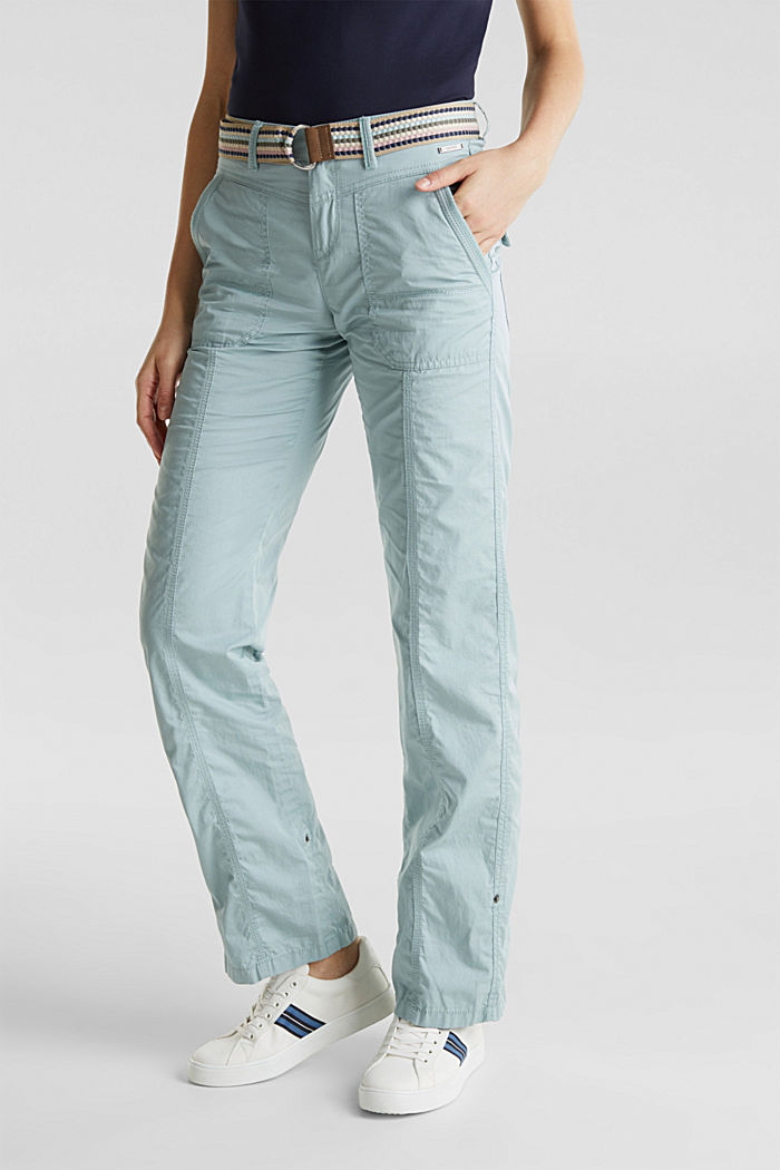 PLAY trousers with a belt, LIGHT AQUA GREEN, detail image number 6