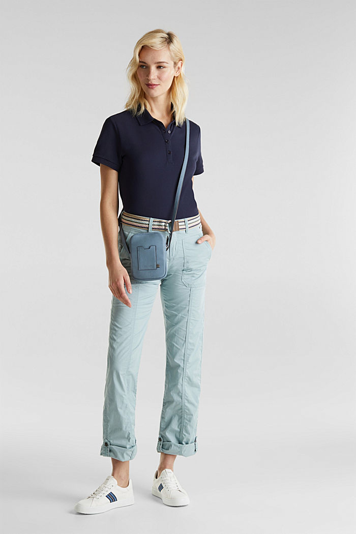 PLAY trousers with a belt, LIGHT AQUA GREEN, detail image number 1