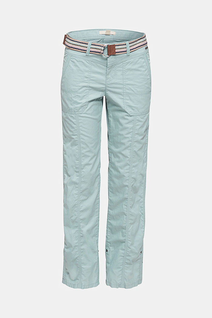 PLAY trousers with a belt, LIGHT AQUA GREEN, detail image number 7