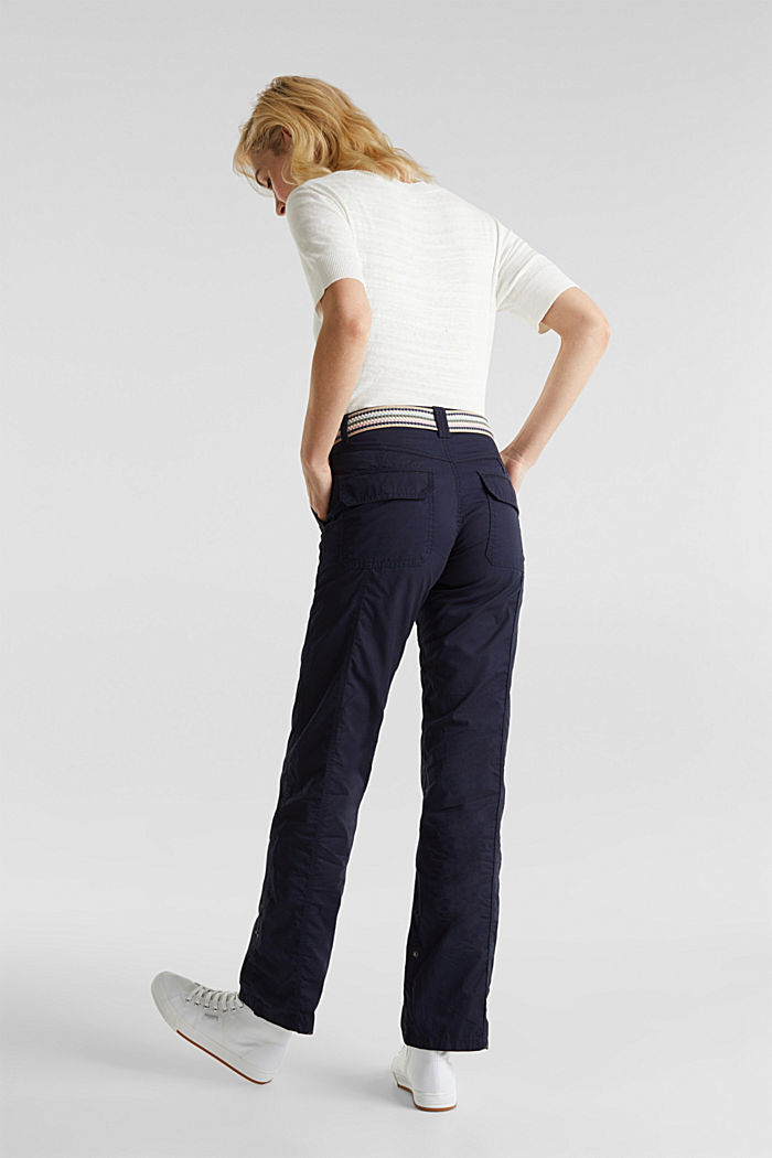 PLAY trousers with a belt, NAVY, detail image number 3