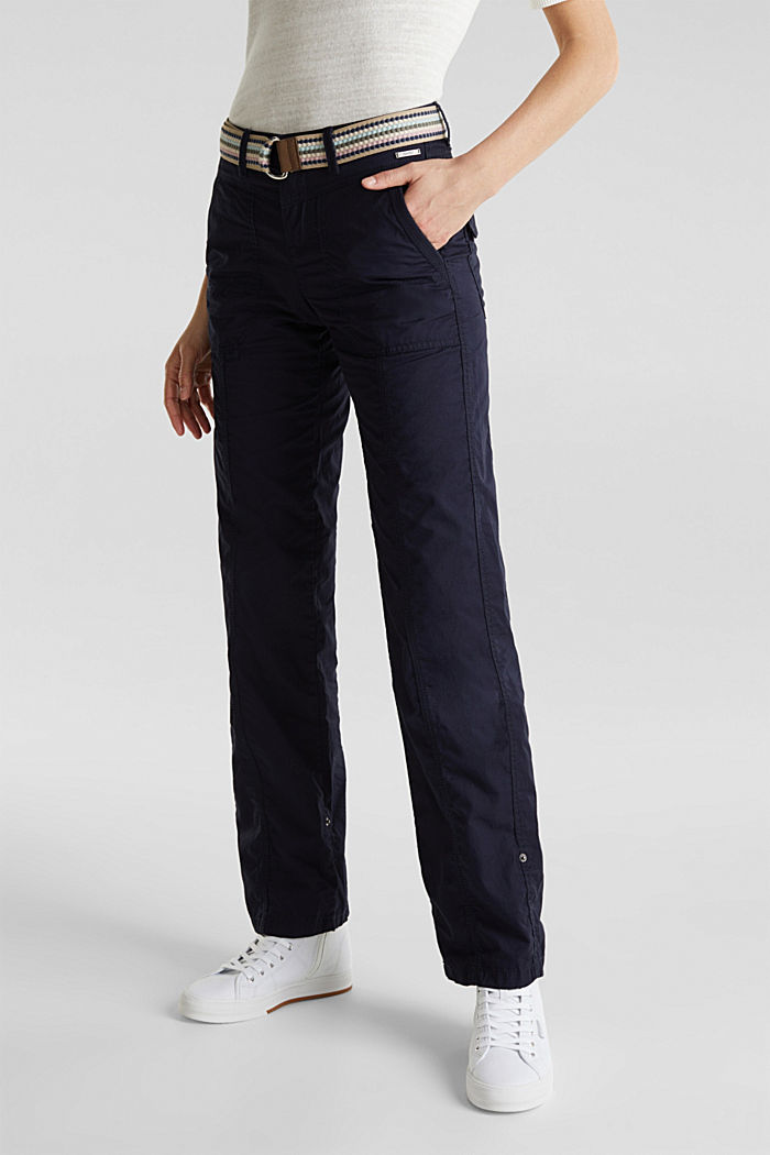 PLAY trousers with a belt, NAVY, detail image number 6