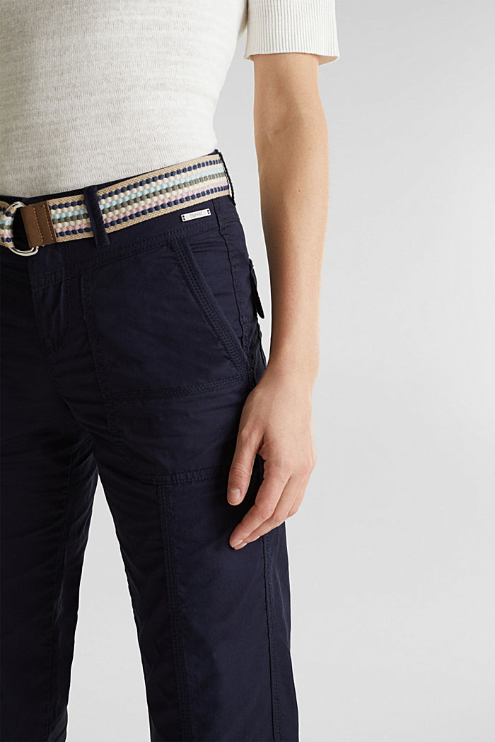 PLAY trousers with a belt, NAVY, detail image number 2