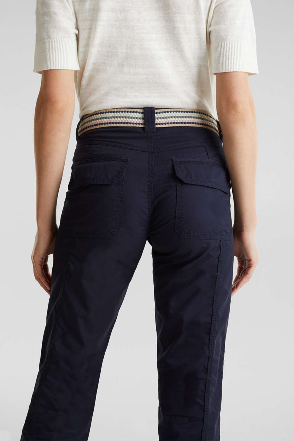 PLAY trousers with a belt, NAVY, detail image number 5