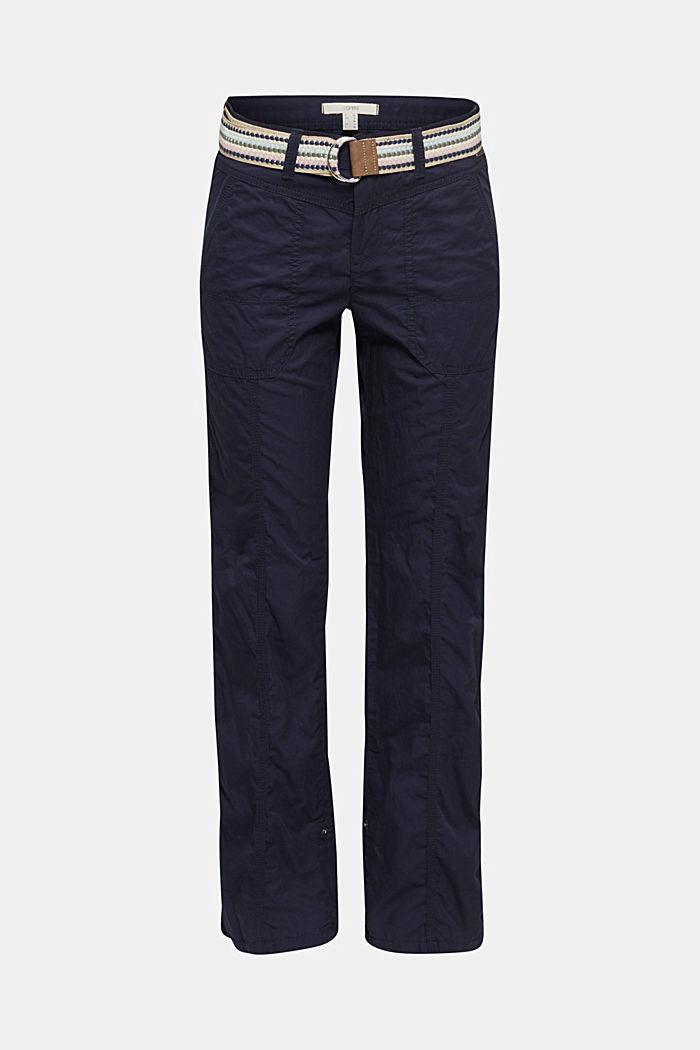 PLAY trousers with a belt, NAVY, detail image number 7