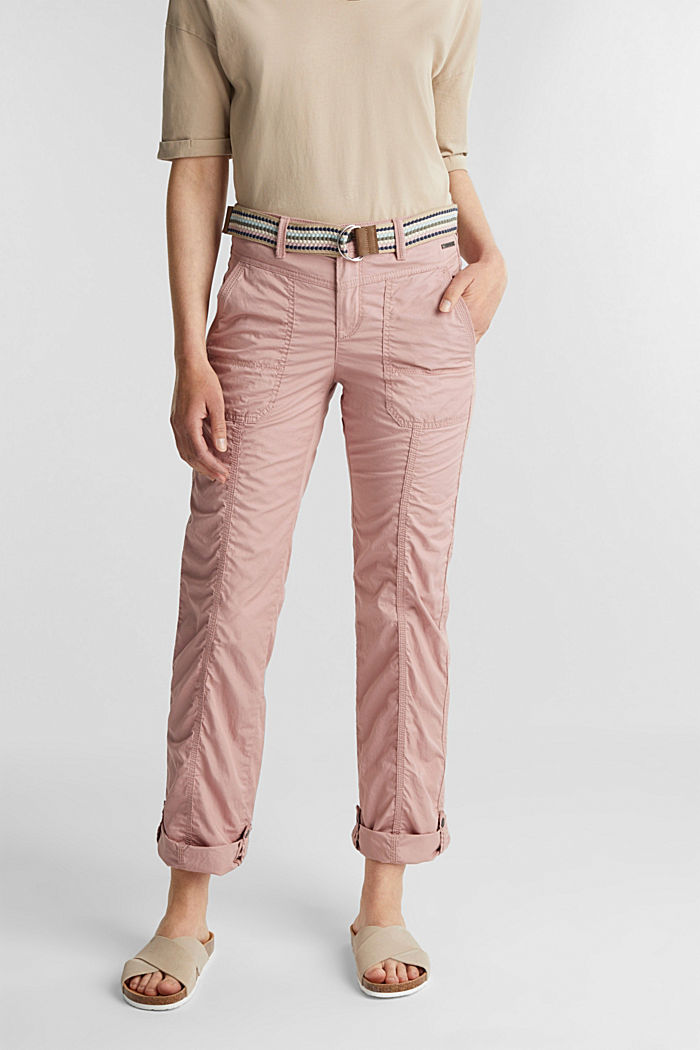PLAY trousers with a belt, OLD PINK, detail image number 0