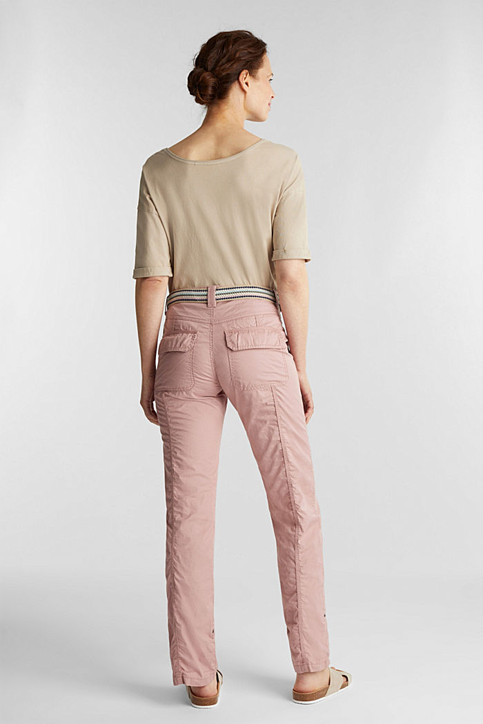 PLAY trousers with a belt, OLD PINK, detail image number 3