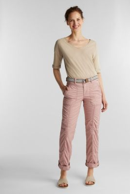 PLAY trousers with a belt, OLD PINK, detail