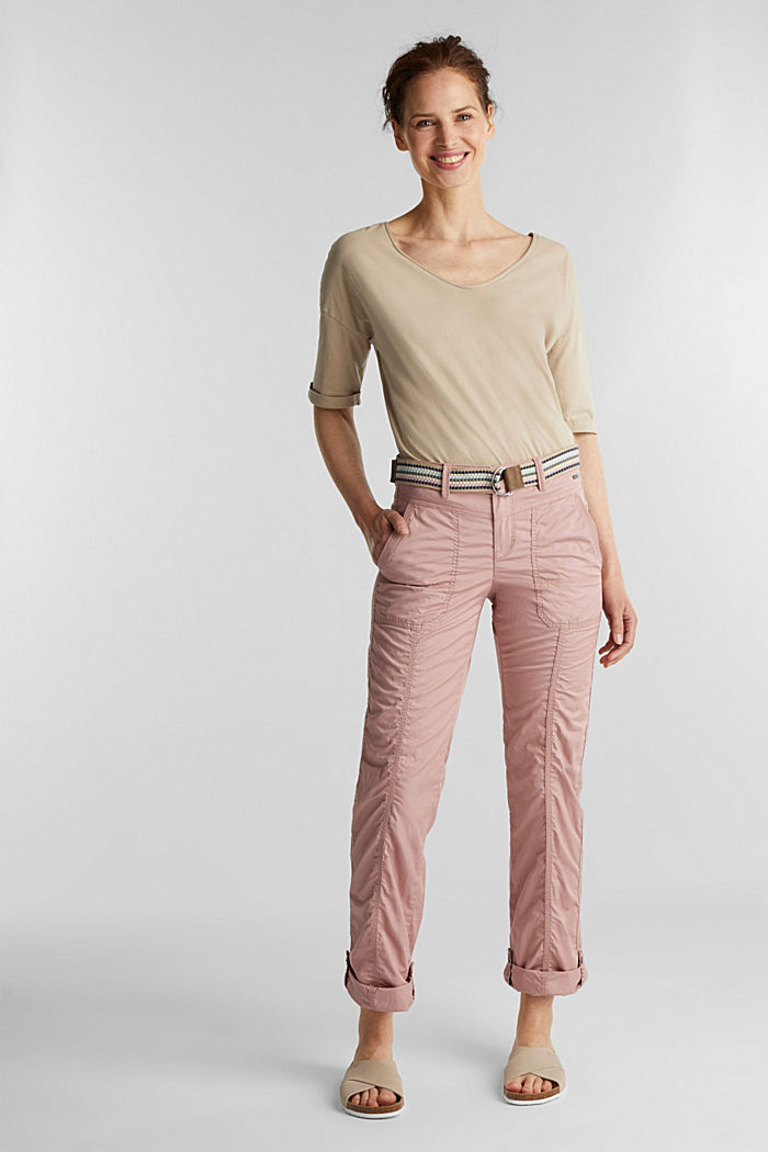 PLAY trousers with a belt, OLD PINK, detail image number 1