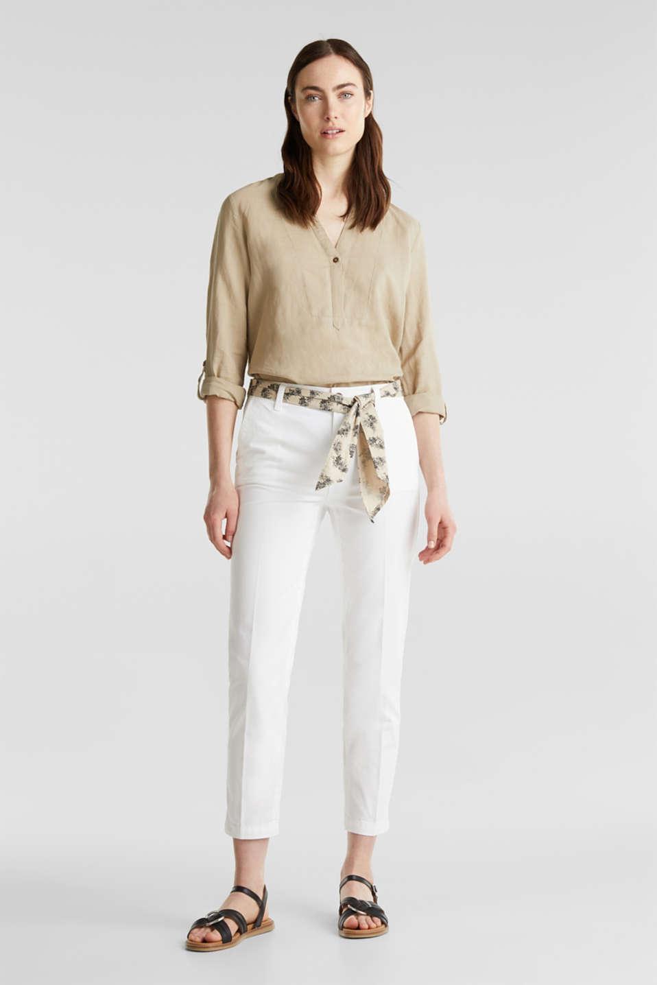 witte broek combineren
