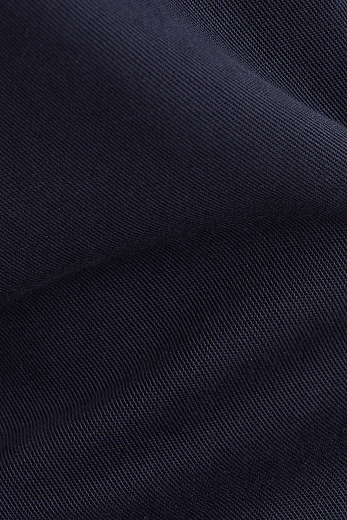 Chinos with a belt, 100% cotton, NAVY, detail image number 4