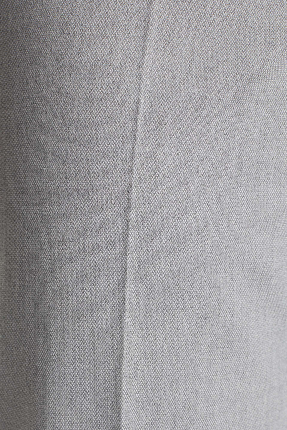 Melange trousers in a tracksuit bottom style, MEDIUM GREY 2, detail image number 4