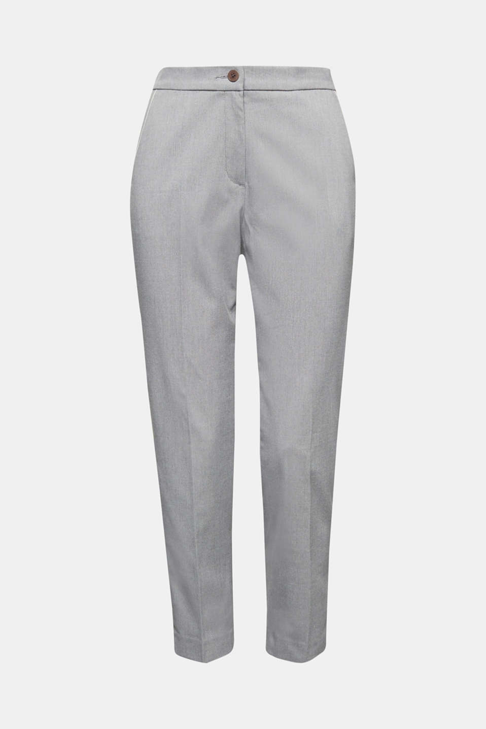 Melange trousers in a tracksuit bottom style, MEDIUM GREY 2, detail image number 6