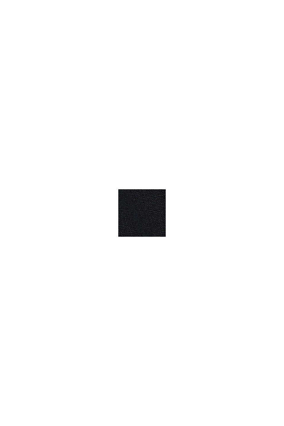 En lin mélangé: le chino à patte de boutonnage, BLACK, swatch