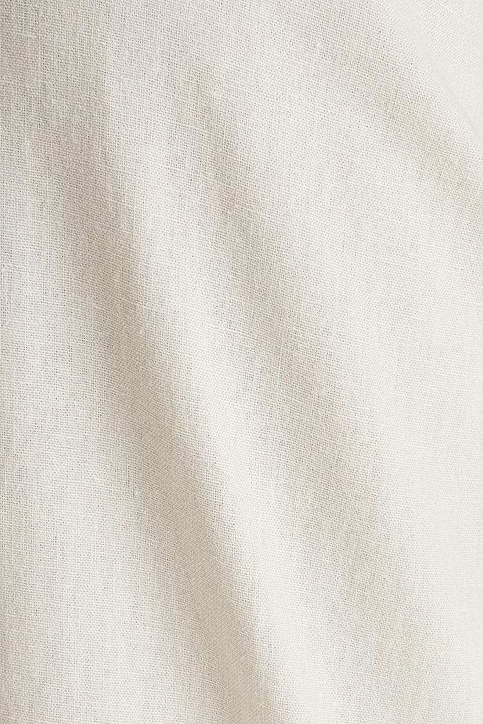 Linen blend: Chinos with a button placket, SAND, detail image number 4
