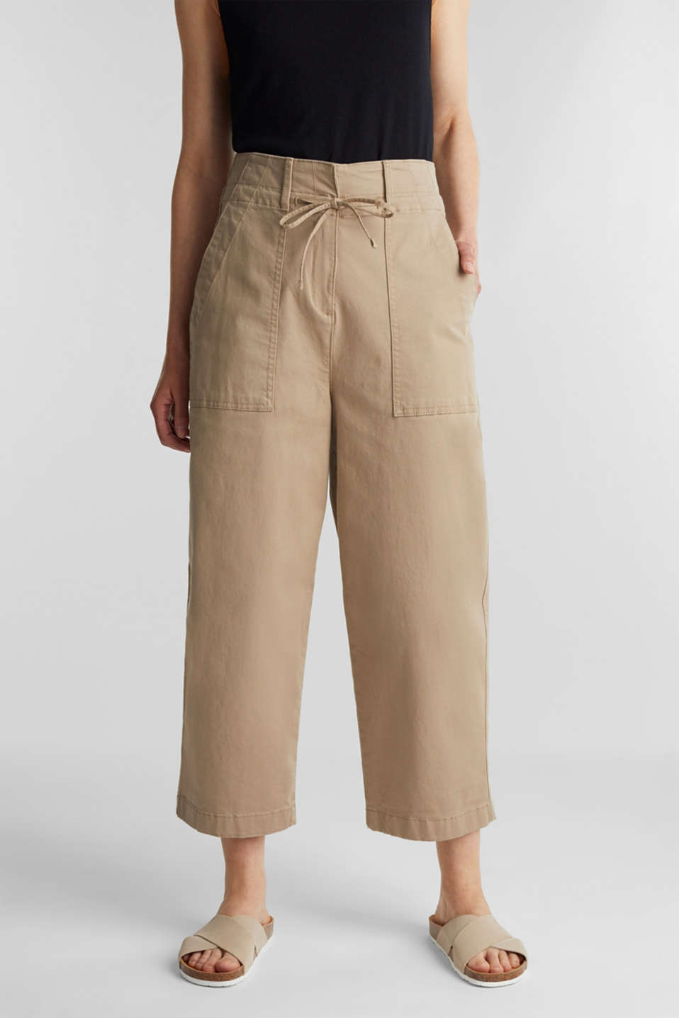 Esprit - High-waisted culottes