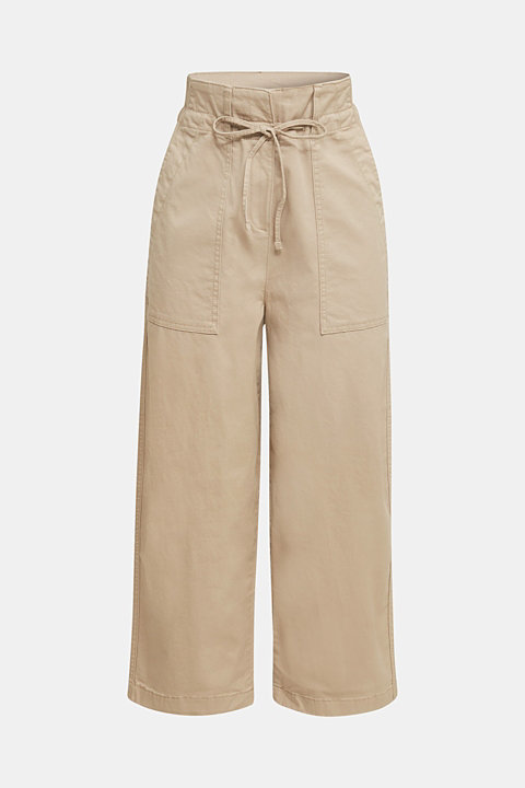 High-waisted culottes