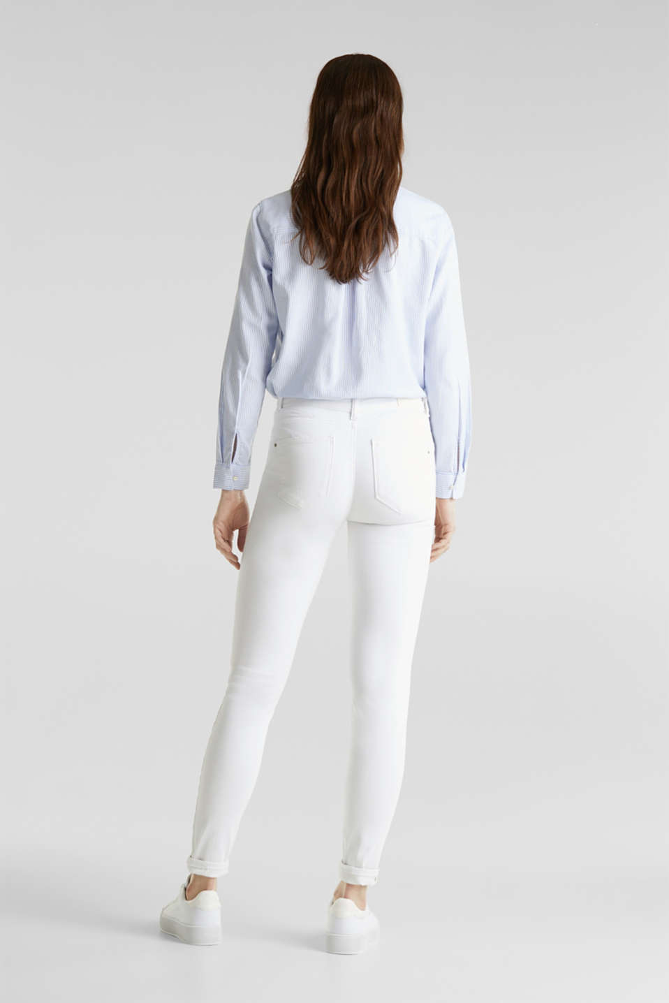 Shaping jeans with a high-waisted waistband, WHITE, detail image number 3