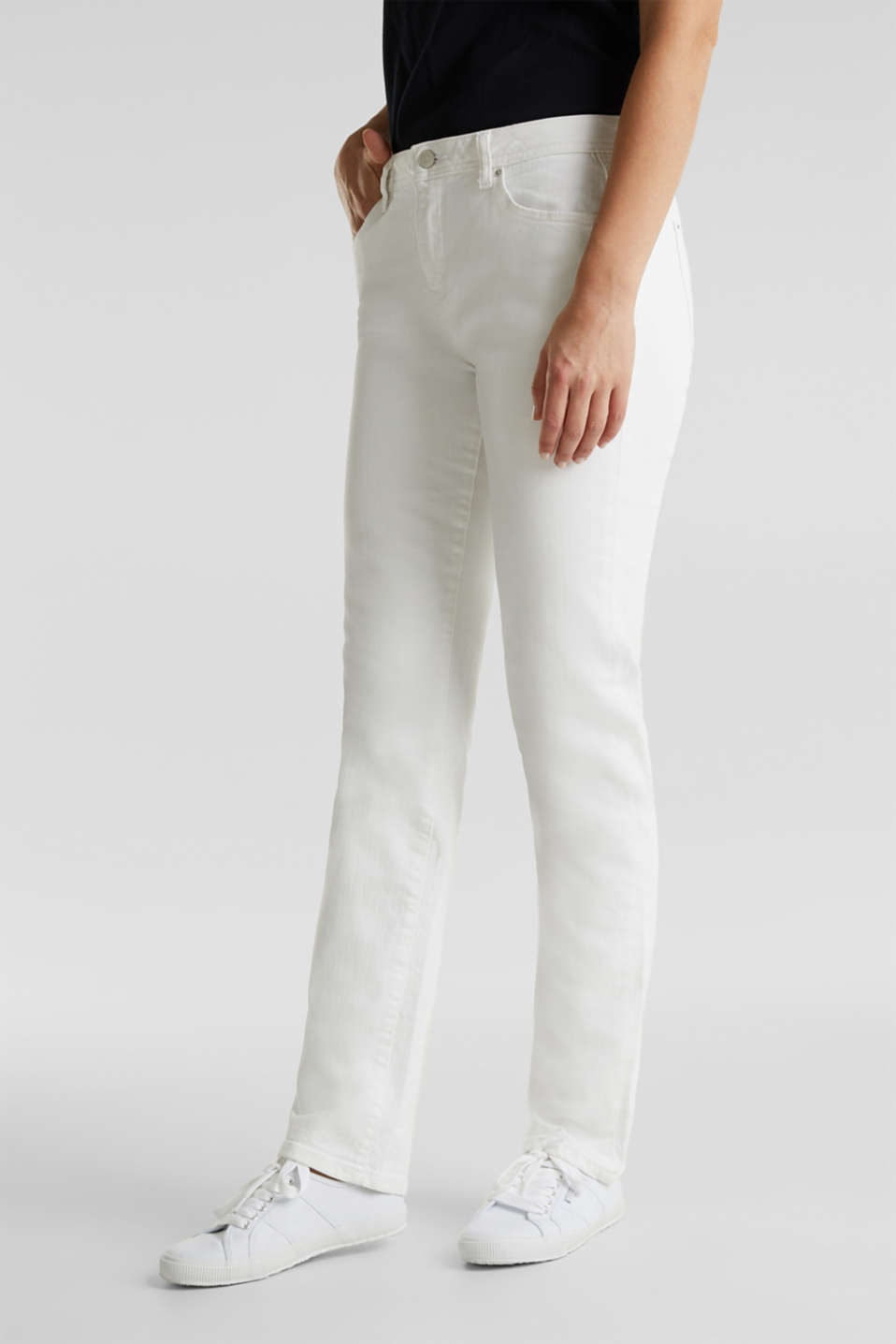 Esprit - Basic jeans with organic cotton