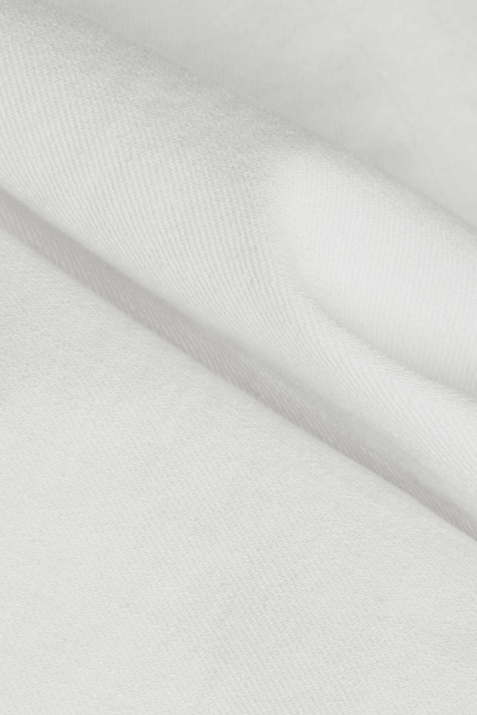 Basic jeans with organic cotton, WHITE, detail image number 4