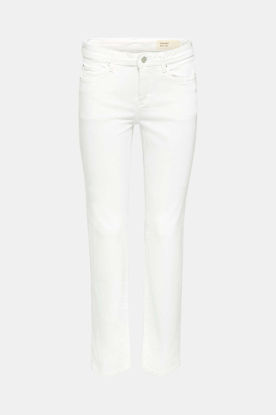 Basic jeans with organic cotton, WHITE, detail image number 8