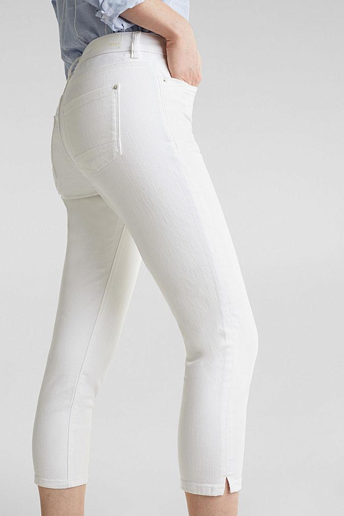 Jeans capri con effetti stropicciati, WHITE, detail image number 2