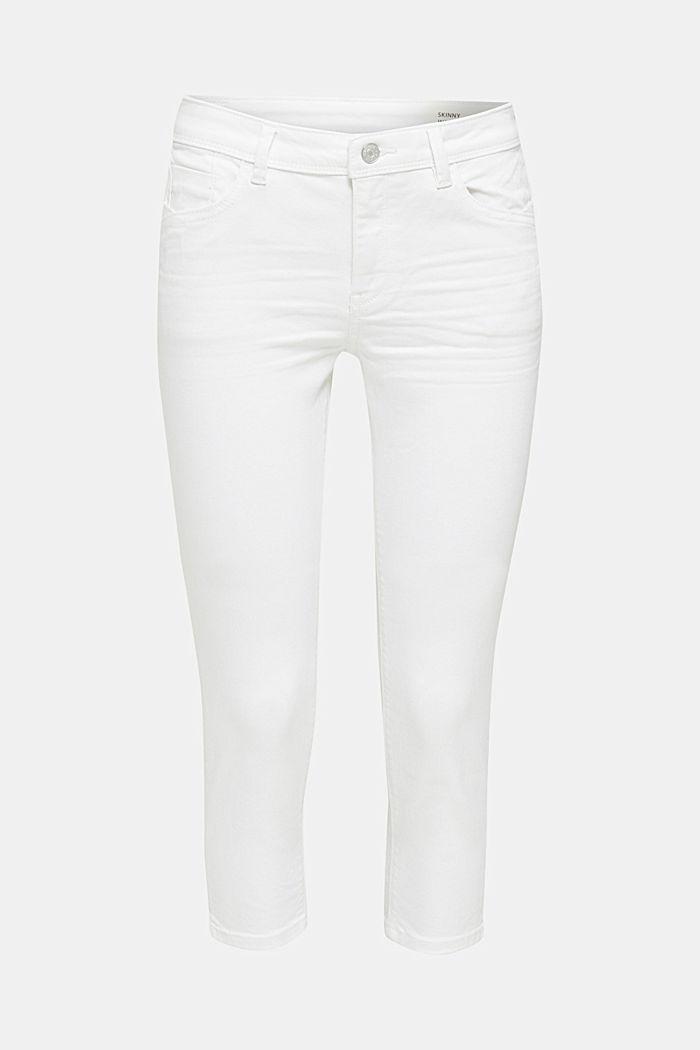 Capri-Jeans mit Wrinkle-Effekten