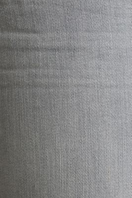 Capri jeans with whiskering, GREY LIGHT WASH, detail