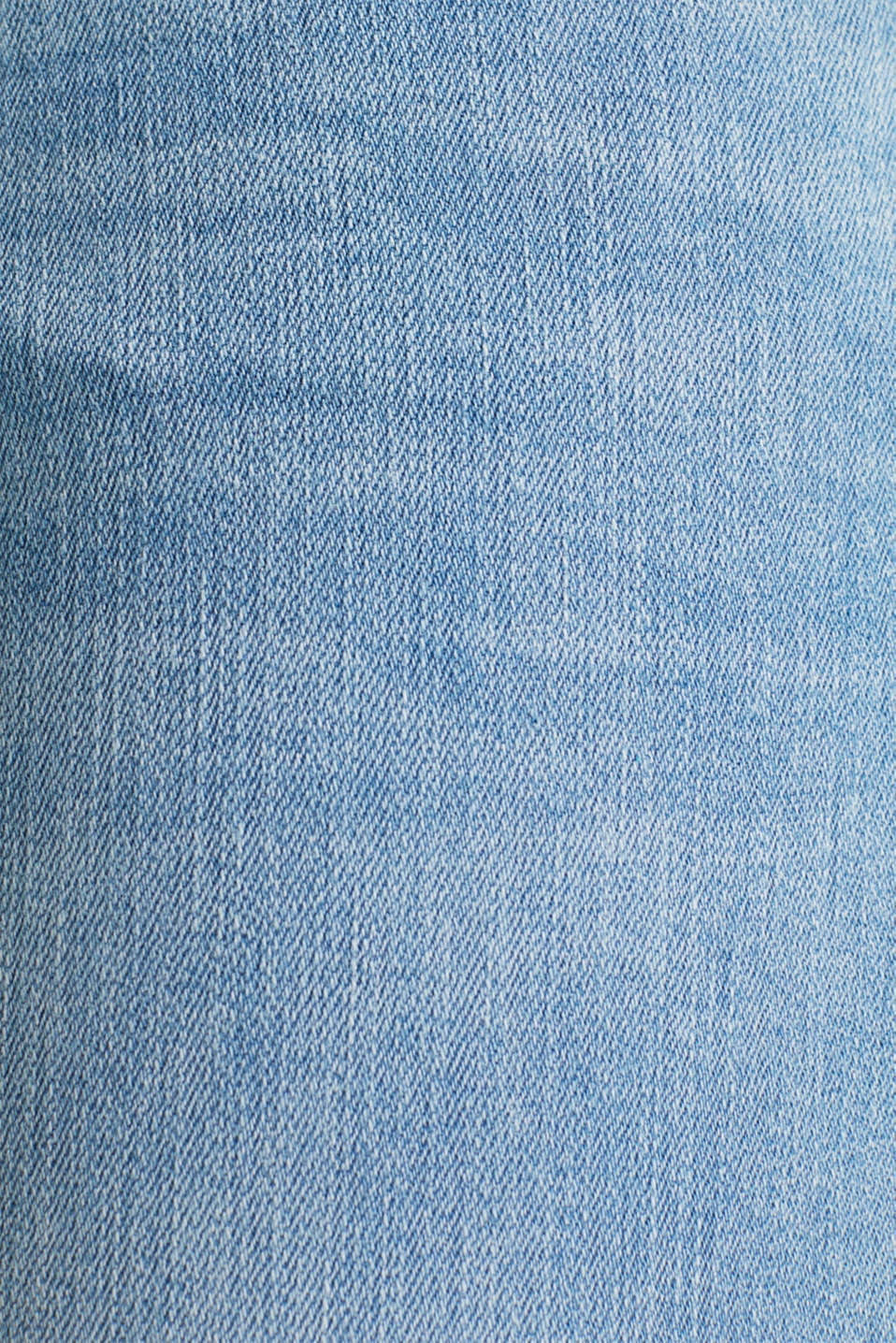 Capri jeans with whiskering, BLUE LIGHT WASH, detail image number 4