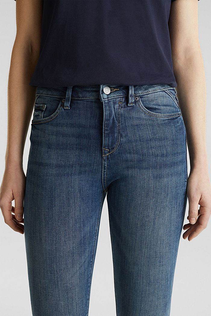 Ankle-length jeans with details, BLUE DARK WASHED, detail image number 2