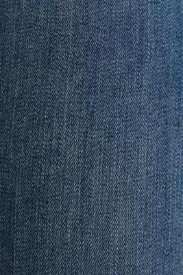Ankle-length jeans with unneatened hems, BLUE DARK WASH, detail