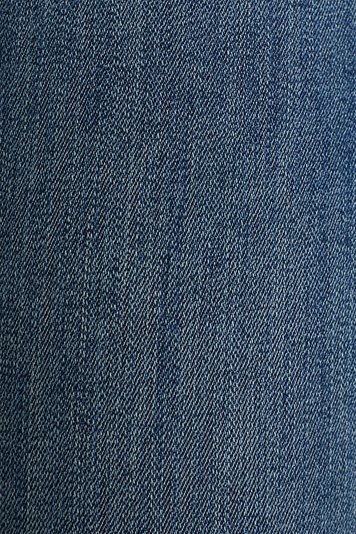 Ankle-length jeans with details, BLUE DARK WASHED, detail image number 4