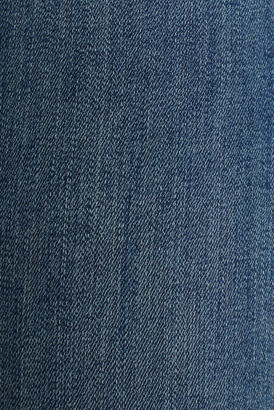 Ankle-length jeans with unneatened hems, BLUE DARK WASH, detail image number 4