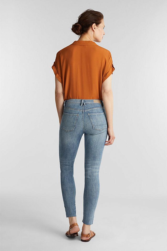 Ankle-length jeans with details, BLUE LIGHT WASHED, detail image number 3