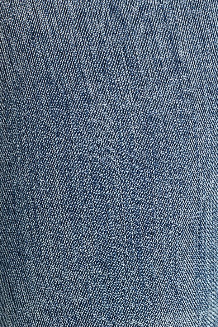 Ankle-length jeans with details, BLUE LIGHT WASHED, detail image number 4