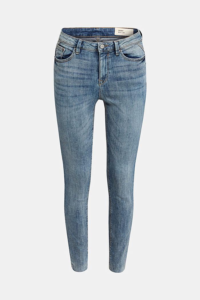 Ankle-length jeans with details, BLUE LIGHT WASHED, detail image number 5