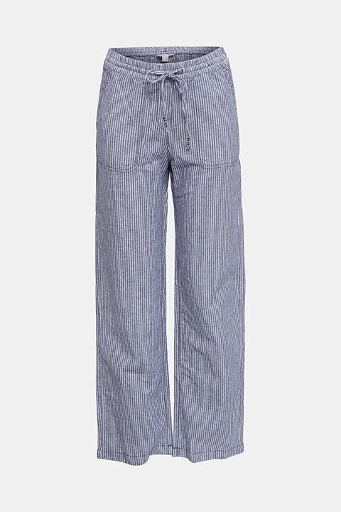 Linen blend: tracksuit bottoms