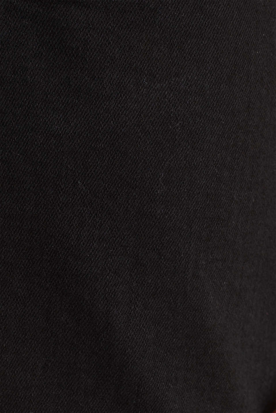 Denim shorts with a button placket, BLACK, detail image number 4