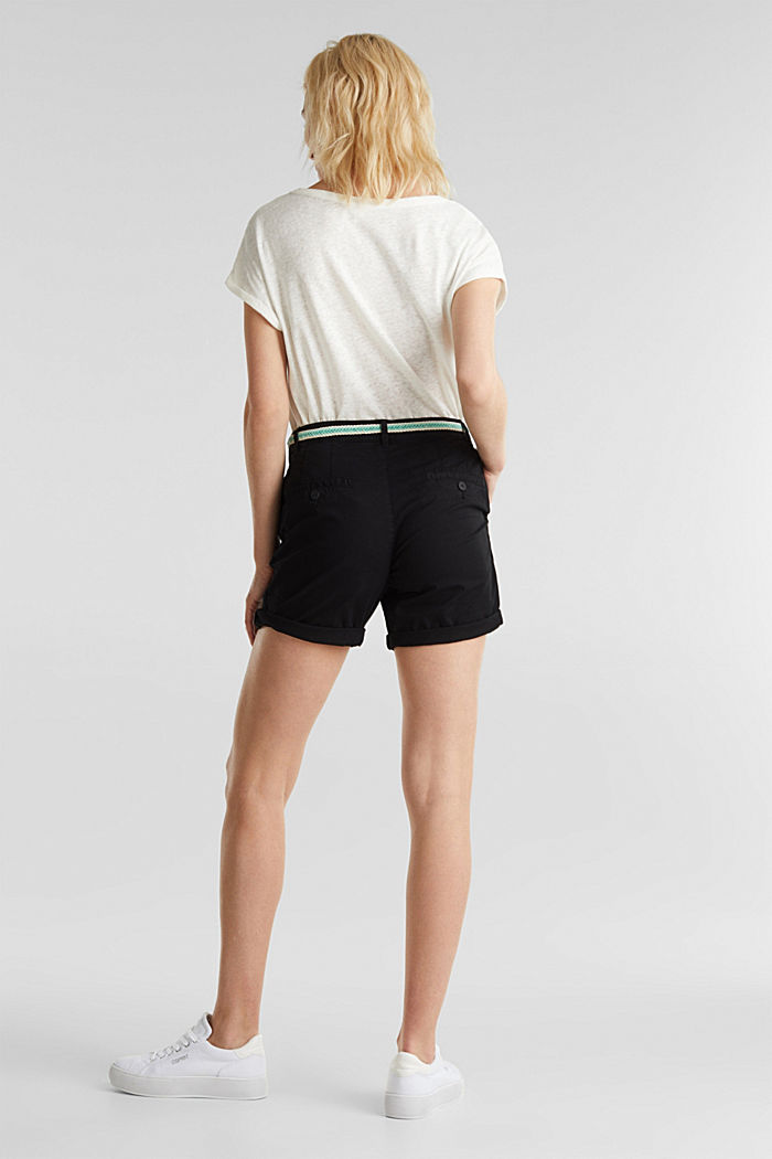 Stretch shorts with Lycra xtra life™, BLACK, detail image number 3