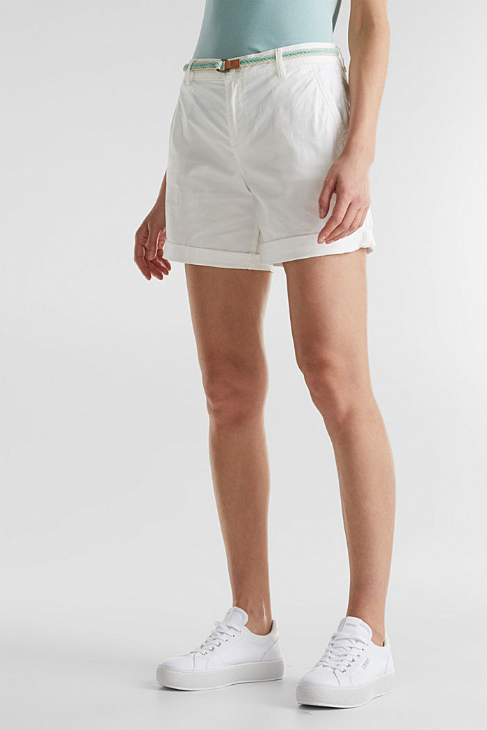 Stretch shorts with Lycra xtra life™, WHITE, detail image number 6