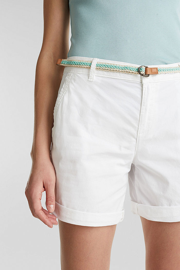 Stretch shorts with Lycra xtra life™, WHITE, detail image number 2