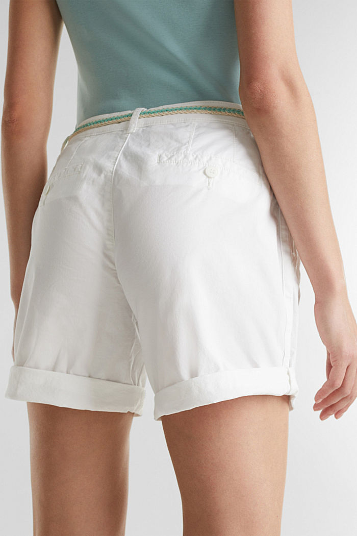 Stretch shorts with Lycra xtra life™, WHITE, detail image number 5