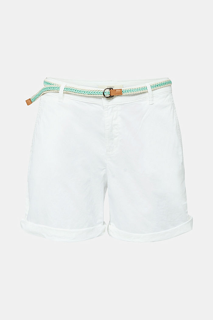 Stretch shorts with Lycra xtra life™, WHITE, detail image number 7