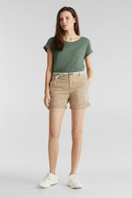 Stretch cotton shorts with Lycra xtra life™, BEIGE, detail