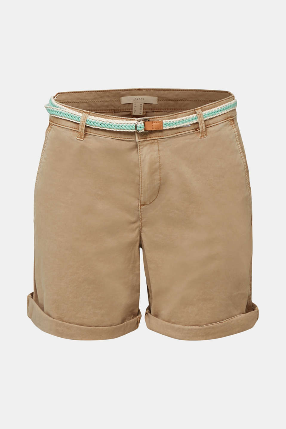 Stretch cotton shorts with Lycra xtra life™, BEIGE, detail image number 8